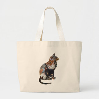 Gato do gato sacola tote jumbo
