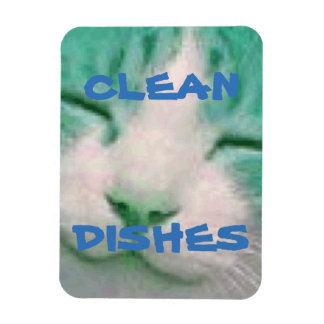 Gato do ímã da máquina de lavar louça limpo