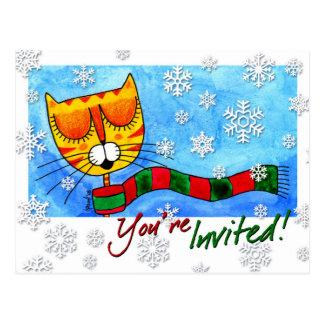 Gato do inverno - você é convidado! Cartão