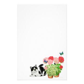 Gato do Moxie & artigos de papelaria das borboleta