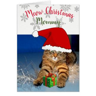 Gato do Natal dentro do Natal de /Meow do cartão