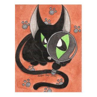 Gato do ônix de CSI Cartão Postal