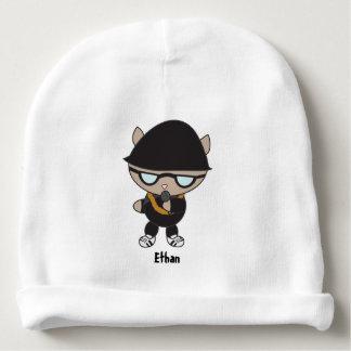 Gato do rapper no chapéu de Bell Gorro Para Bebê