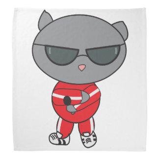 Gato do rapper no terno de trilha bandana