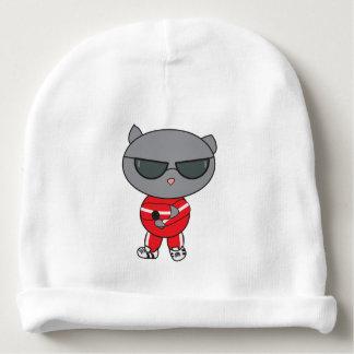 Gato do rapper no terno de trilha gorro para bebê