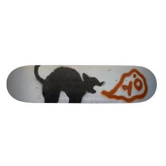 Gato do skate dos grafites