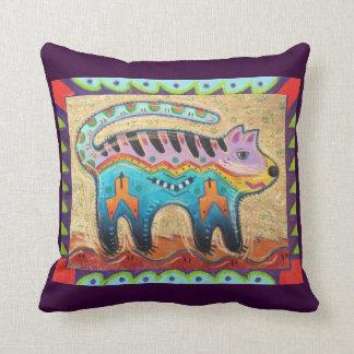 Gato do sudoeste mal-humorado da arte popular almofada