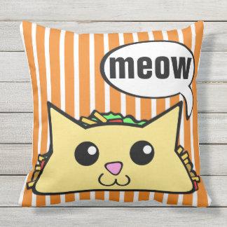 Gato do Taco listrado Travesseiro De Decoração
