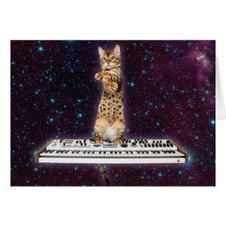 gato do teclado - gatos engraçados - amantes do cartão
