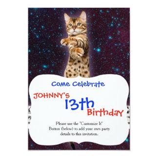 gato do teclado - gatos engraçados - amantes do convite 12.7 x 17.78cm
