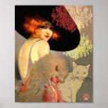 Gato do Veronica e poster ou impressão do candelab