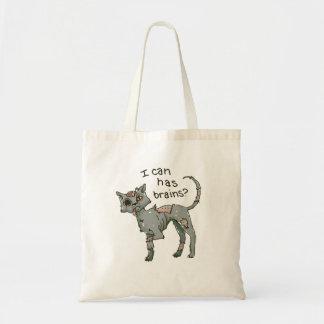 Gato do zombi, eu posso tenho o saco do bolsa/doce sacola tote budget