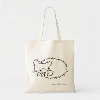 Gato dormente, gato charmant bolsa tote