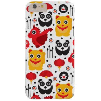 Gato, dragão, e panda afortunados de China Capas iPhone 6 Plus Barely There