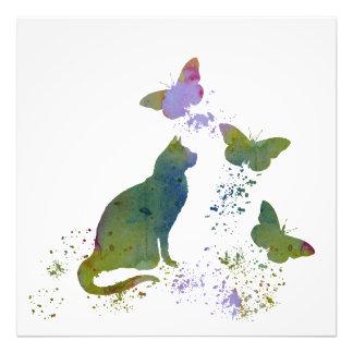 Gato e borboletas foto