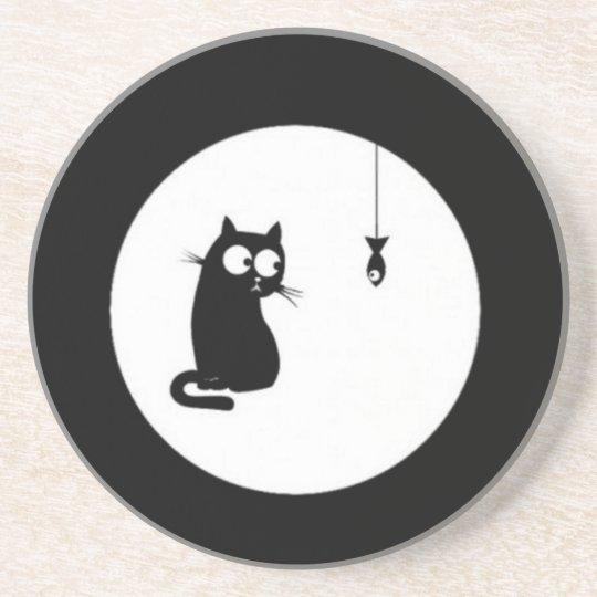 Gato e Peixe (Cat and Fish) Porta-copos