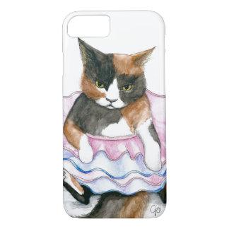 Gato em uma capa de telefone do tutu