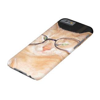 Gato engraçado com casos do duro do iPhone 6s dos Capa Barely There Para iPhone 6