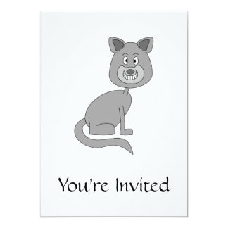 Gato engraçado convites personalizado