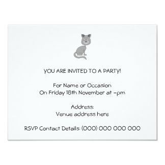 Gato engraçado convite 10.79 x 13.97cm