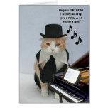 Gato engraçado customizável cartoes