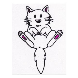 gato engraçado do gatinho cartão postal