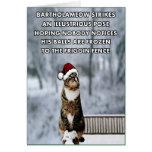 Gato engraçado do Natal Cartao