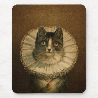 Gato extravagante Mousepad do vintage
