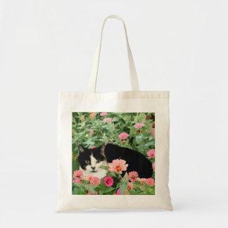 Gato floral bolsas