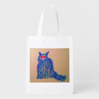 Gato frio sacolas reusáveis