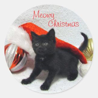 Gato, gatinho, Natal, salvamento, foto Adesivo