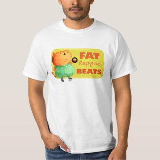 Gato gordo gordo gordo da reggae camiseta