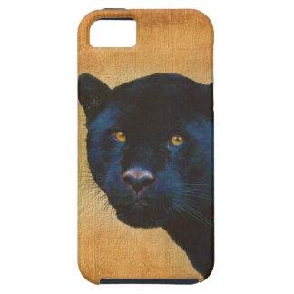 Gato grande dos animais selvagens pretos legal da capa para iPhone 5