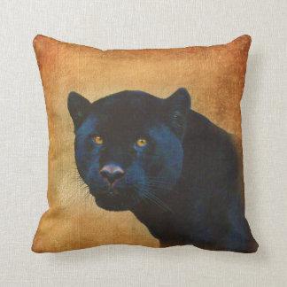 Gato grande dos animais selvagens pretos legal da travesseiro de decoração