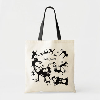gato inspirado e personalizado sacola tote budget