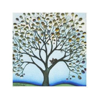 Gato lunático do Cairo na árvore Impressão Em Tela