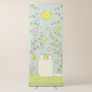 Gato macio e Sun amarelo Banner Retrátil