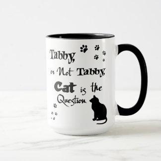 Gato malhado ou não caneca do amante do gato de