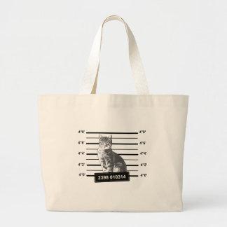 Gato mau bolsa para compras