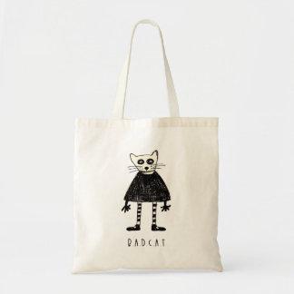 Gato mau bolsas para compras