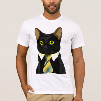 Gato Meme do negócio Camiseta