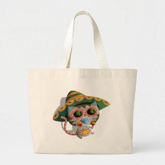 Gato mexicano com Sombrero Sacola Tote Jumbo
