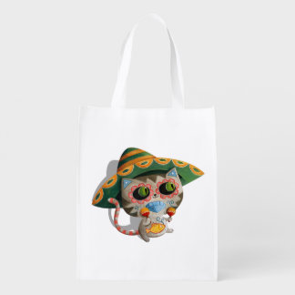 Gato mexicano com Sombrero Sacolas Ecológicas