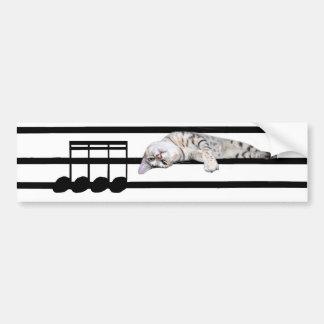 Gato musical de Bengal Adesivo Para Carro