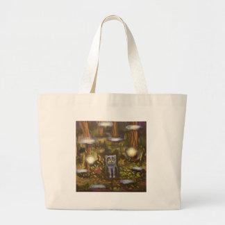Gato na floresta bolsa para compras