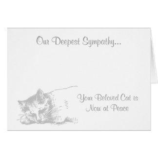 Gato no cartão de simpatia veterinário da paz
