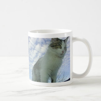 Gato no céu caneca