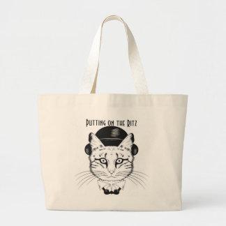Gato no chapéu alto que pôr sobre o Ritz, o bolsa
