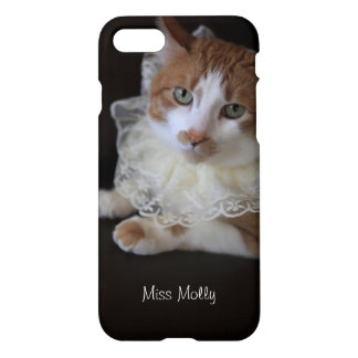 Gato no colar laçado capa iPhone 7