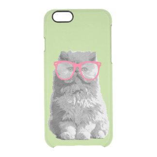 Gato persa com capa de telefone engraçada bonito